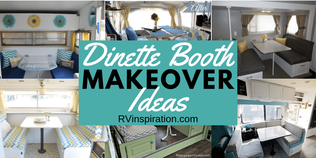 Instead of removing your RV dining booth, why not give it a makeover?