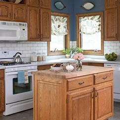 Cost To Renovate A Kitchen Remodeled Ideas 7 For Updating Wood Cabinets (without Painting Them ...