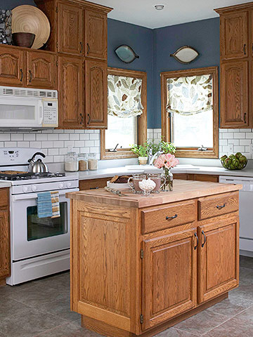 cost to renovate a kitchen small space tables for 7 ideas updating wood cabinets (without painting them ...