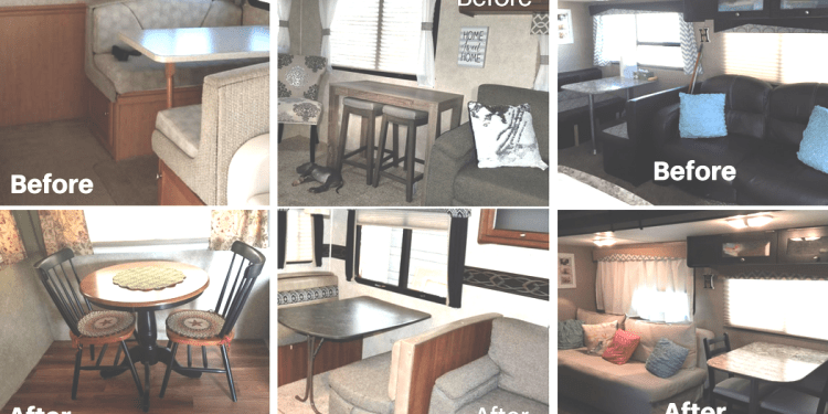Magnificent Rv Owners Who Replaced Their Dining Booth Rv Inspiration Ncnpc Chair Design For Home Ncnpcorg