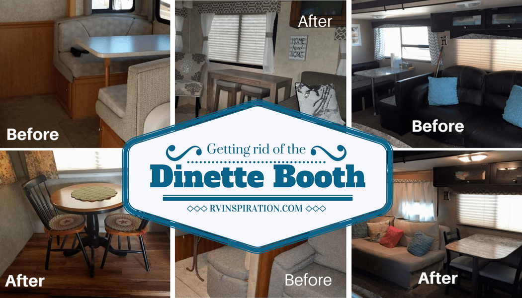 dining chairs walmart beauty salon waiting rv owners who replaced their booth | inspiration