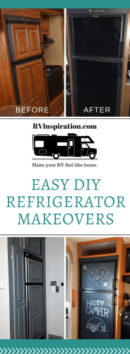 Give your RV fridge a makeover! Try one of these ideas in your camper, travel trailer, or motorhome.