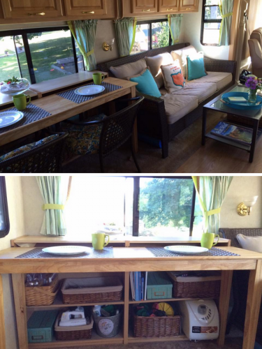 two chair dining table pong ikea rv owners who replaced their booth | inspiration