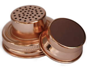 copper cocktail mixer lid