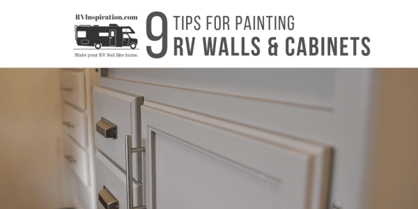How to paint RV walls and cabinets