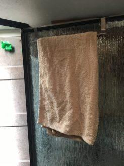 over shower door towel rack - #RV #bathroom idea