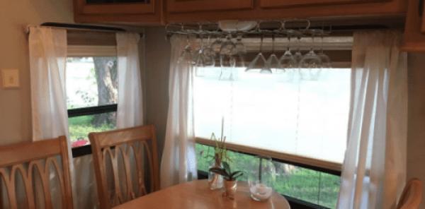 Wine glass storage in RV, camper, motorhome