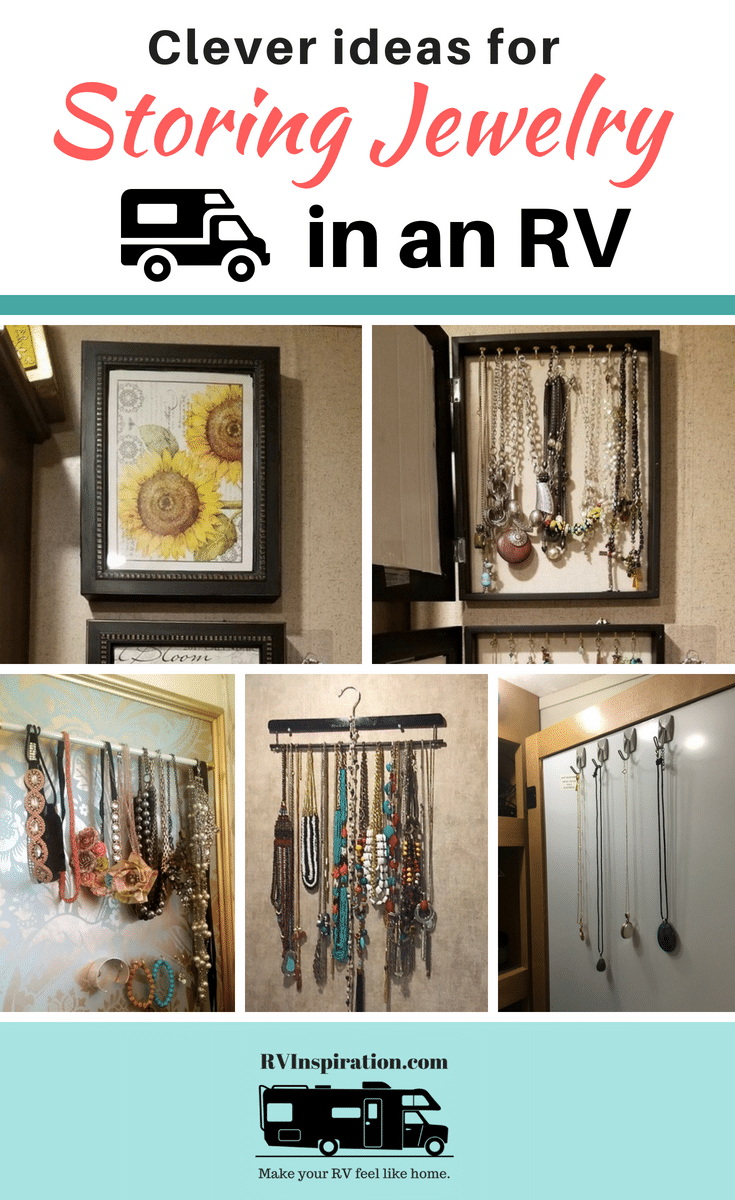 Keep jewelry organized and easily accessible in the bedroom or bathroom of your camper, motorhome, travel trailer, tiny home, or small apartment.