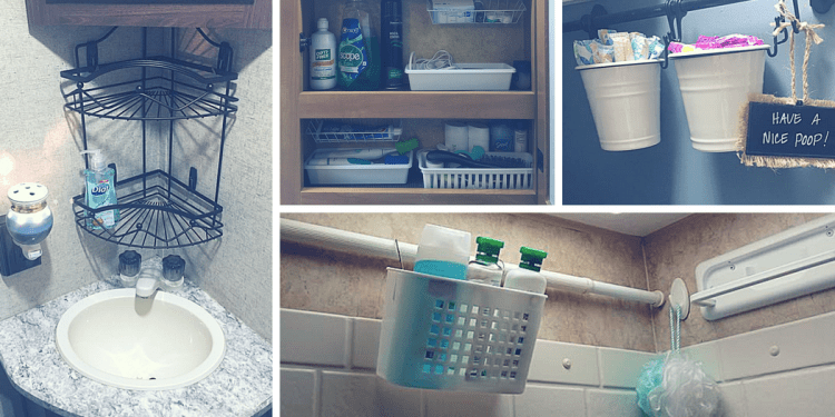 RV Bathroom Storage Organization Ideas