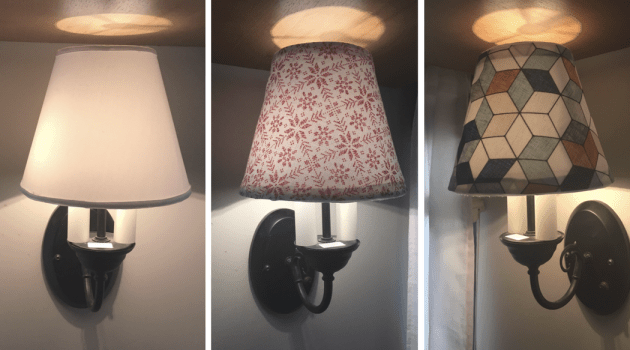 How to Give the Lamp Shades in Your RV a DIY Makeover