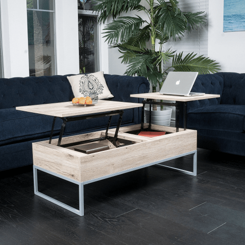 Lift sectional coffee table for motorhomes, campers, and travel trailers | RV furniture