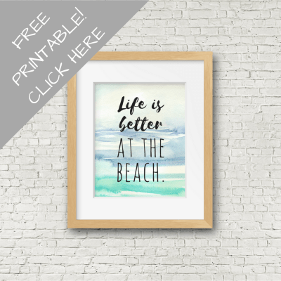 Better At the Beach Printable