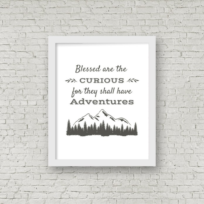 Free printable rustic wall decor from RV Inspiration - Adventure travel quote
