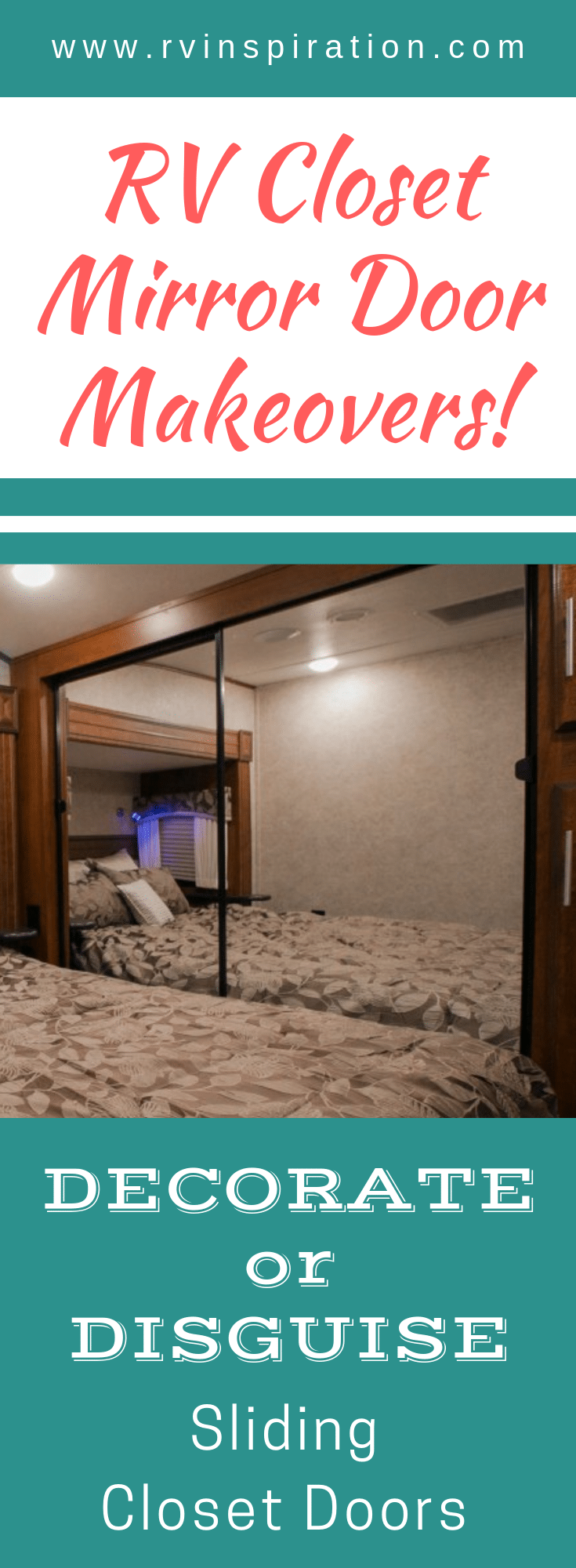 Looking to get rid of the mirrors in your motorhome or travel trailer bedroom? Take a look at how these RV owners gave their closets a makeover!