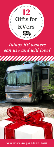 Wondering what to give as a Christmas, birthday, housewarming gift for someone who lives in or recently purchased a travel trailer or motorhome?  It can be tough to find something affordable that RV owners need and want but don't already own, especially if they are full timers and don't have a lot of extra space!