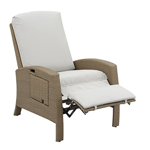Outdoor recliner with folding side table - Best chairs for motorhomes, campers, and travel trailers | RV furniture