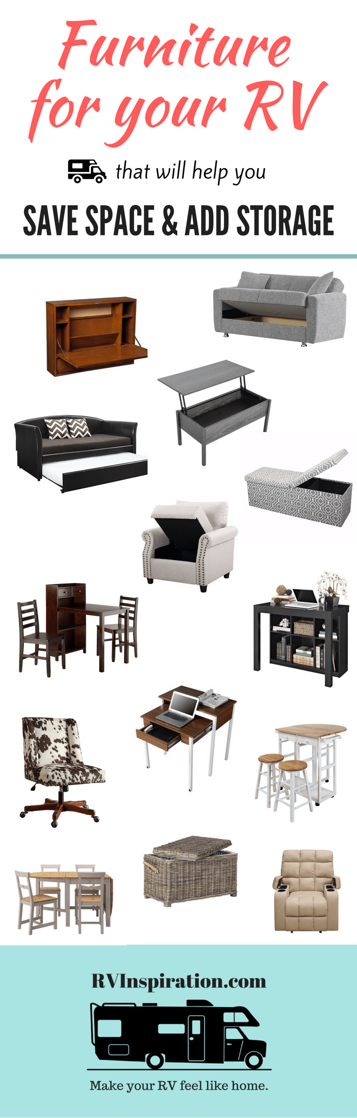 Best furniture for motorhomes, campers, and travel trailers | replace RV furniture makeover