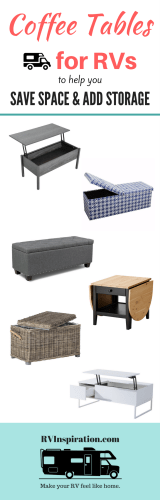 Best coffee tables for motorhomes, campers, and travel trailers | replace RV furniture makeover