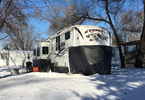 Ideas for living or camping in an RV in cold weather during winter