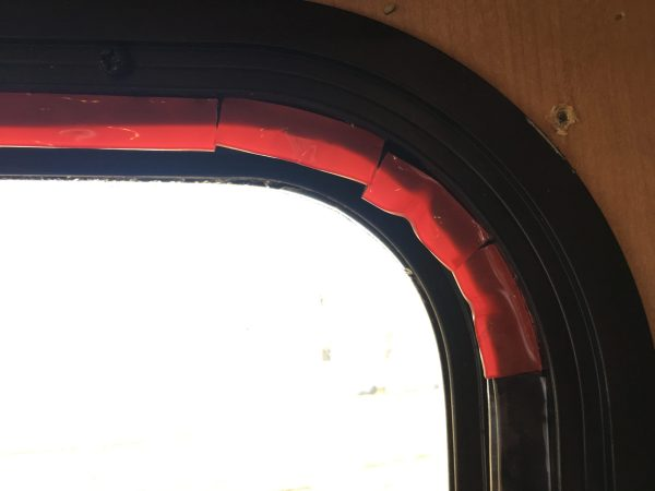 Making DIY RV storm windows out of plexiglass to insulate windows for cold weather in winter