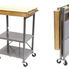 Folding Kitchen Island Cabinet Ideas For Small Kitchens Islands Add Extra Counter Dining Space To Your Camper Origami Cart