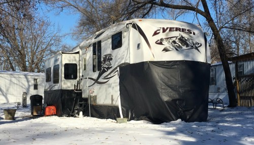 Our RV in snow