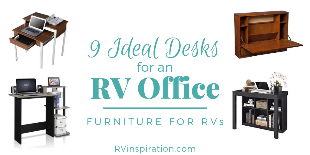 These desks would be perfect for creating an office or mobile workspace in an RV.