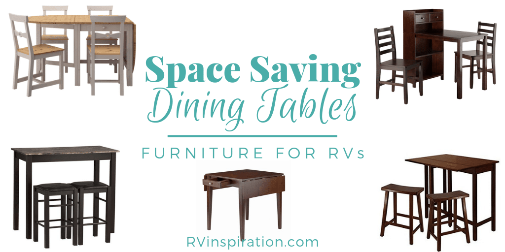 Make the most of your RV dining space with these 12 space saving dining tables.