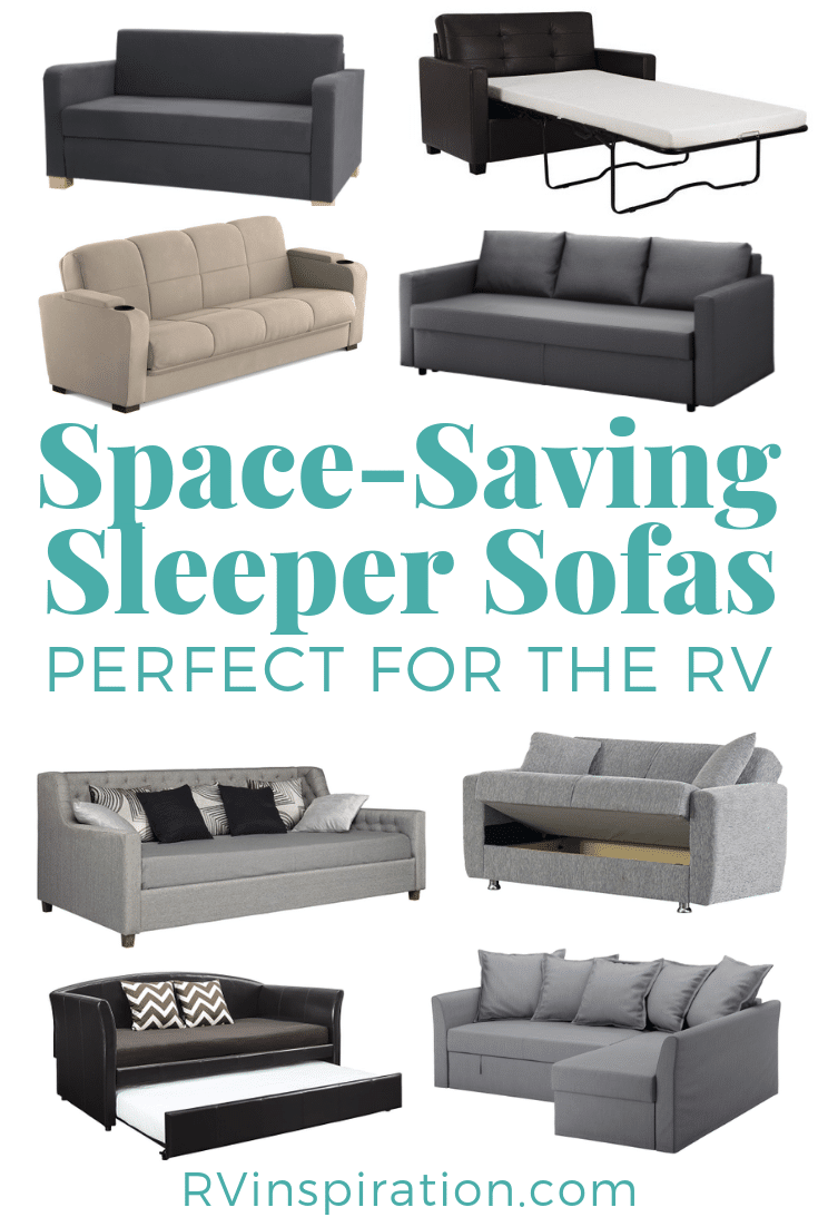 Sleeper sofas that can replace your outdated RV sofa! #RVsofa #RVideas #RVrenovation #RVmakeover