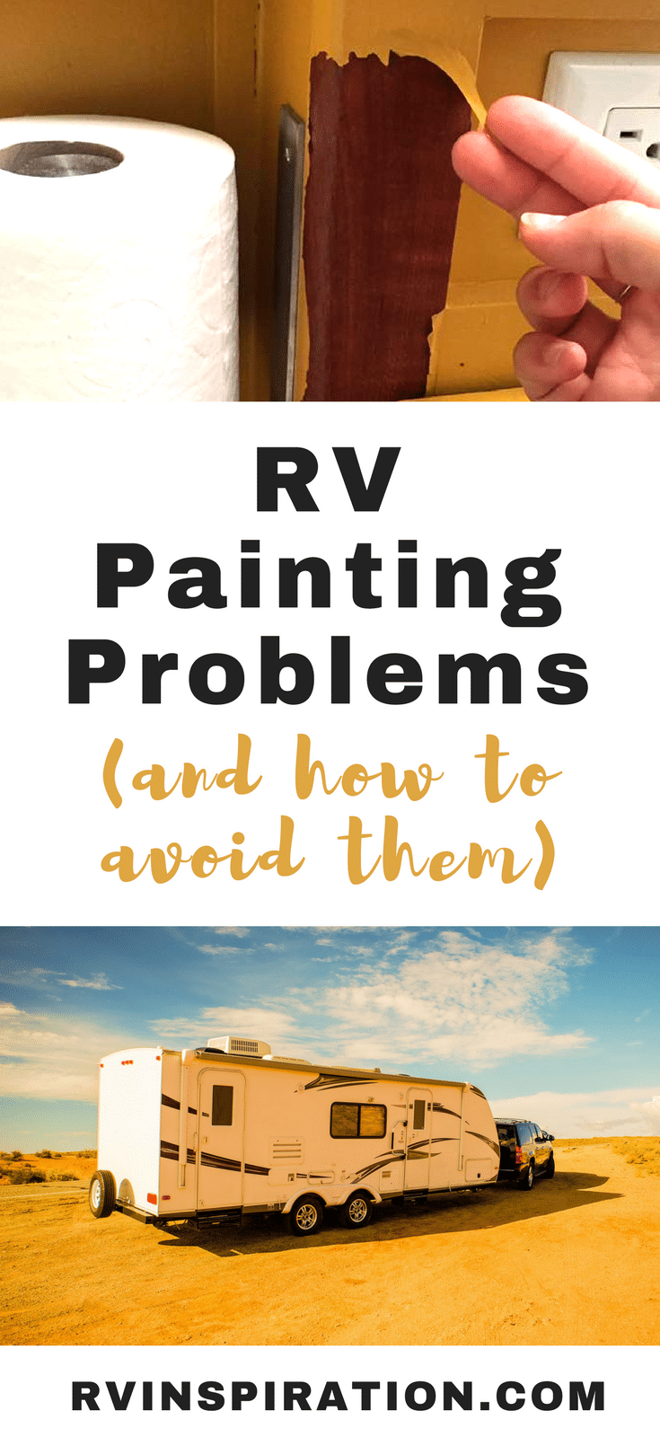 Watch out for these frustrating problems encountered by people who painted the walls or cabinets in the interior of their camper or motorhome.