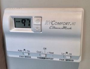 97 degrees inside our camper