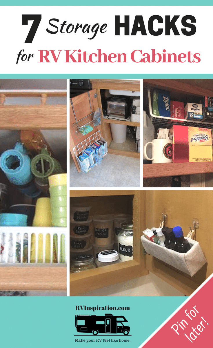kitchen cabinets storage 8 inch knife 7 organization hacks for rv inspiration clever ways to organize and save space in a camper motorhome