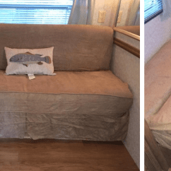 Jackknife Sofa For Rv Furniture One Beds Bed Replacement Ideas With Pictures Makeover Of In Using A Futon Slipcover By Brandy Tidwell