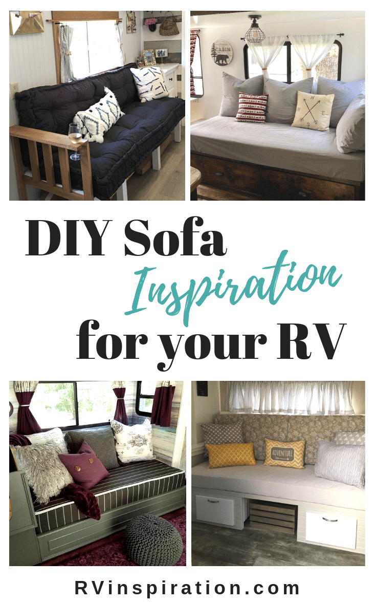 #DIY #sofas you can build for your #camper, #motorhome, or travel trailer | RVinspiration.com
