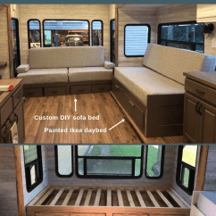 Diy Daybed Sofas Loveseat Sleeper Sofa Bed Inspiration For Your Rv Beds With Storage By Keith And Shannon Coon