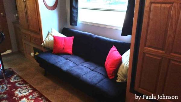 Futon replacing jackknife sofa in RV | by Paula Johnson
