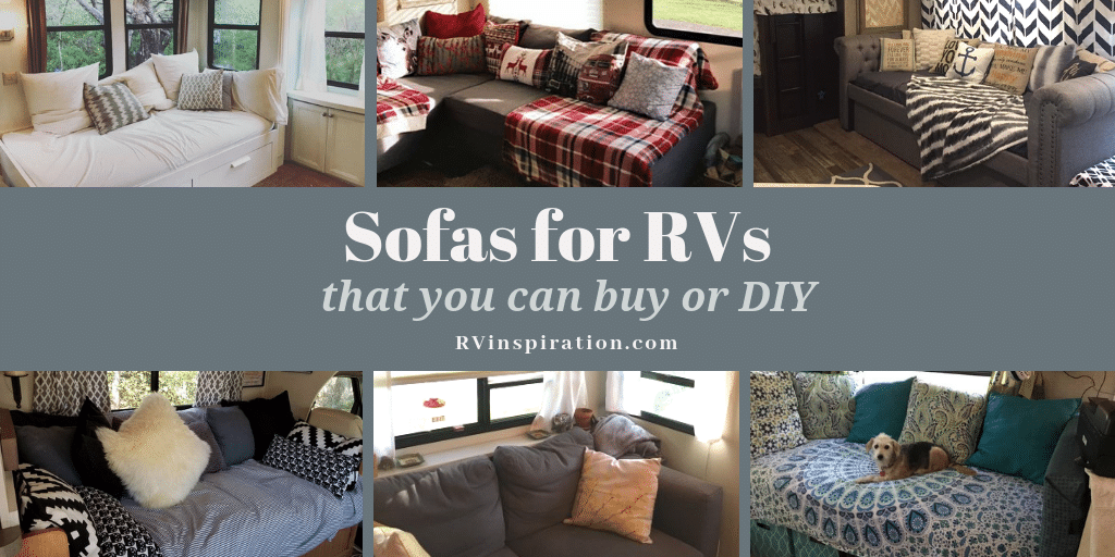 Sofa bed ideas for campers, motorhomes, and travel trailers