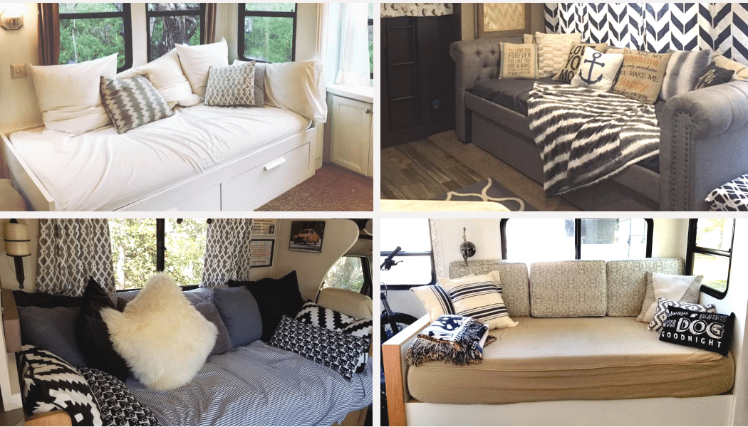 sofa beds for motorhomes victorian bedroom rv bed replacement ideas with pictures best sleeper sofas campers and travel trailers