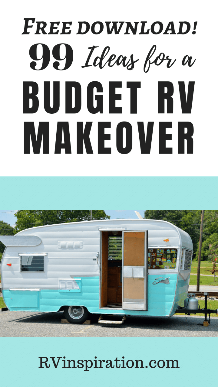 Cheap DIY makeover ideas to help you decorate, organize, and add storage to your motorhome or camper.