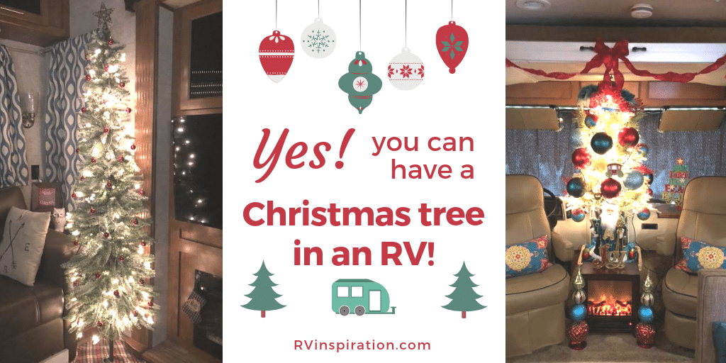Spending the holidays in your camper or motorhome doesn't mean you have to miss out on having a Christmas tree!