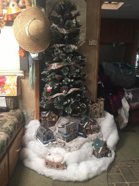 Camper decorated for Christmas by Courtney Rowley