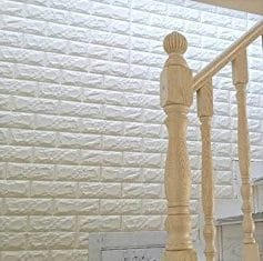 Faux brick foam wall covering perfect for RV makeover