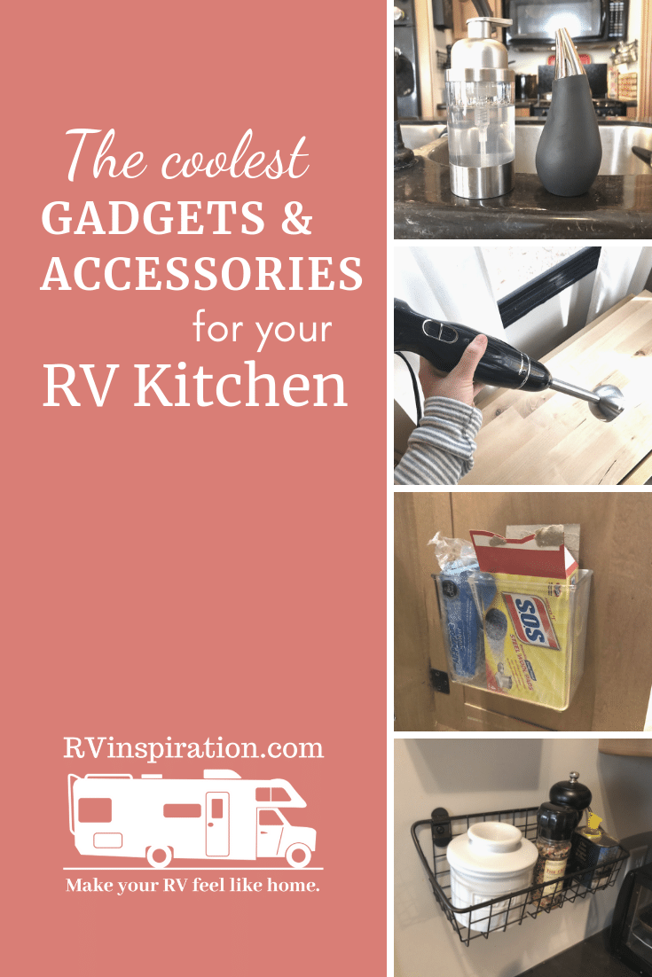 Space-saving accessories and gadgets for your camper or motorhome #RV #RVhacks #RVideas #RVkitchen