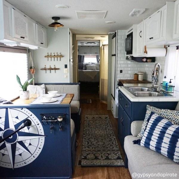 Nautical themed camper by GypsyAndAPirate