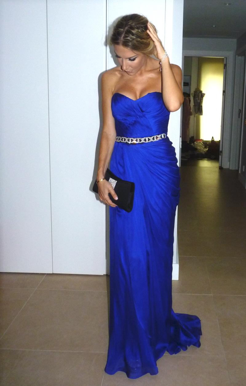 cobalt blue vakko couture  RVLH