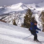 Skiing June Mountain