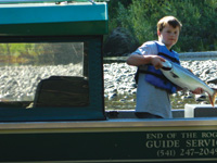 Even young anglers can catch big fish on the Rogue River.