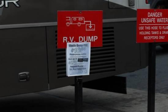 RV dump station