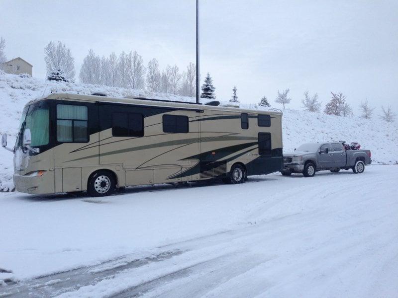 winter RV travel