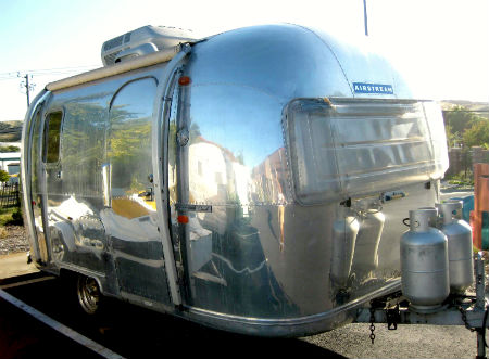 A restored 1969 Airstream Caravelle completed by Avalon RV based in Benicia, CA.